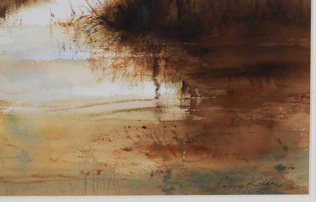 """Harvey Kidder, """"Marsh Landscape"""" W/C - 3"""