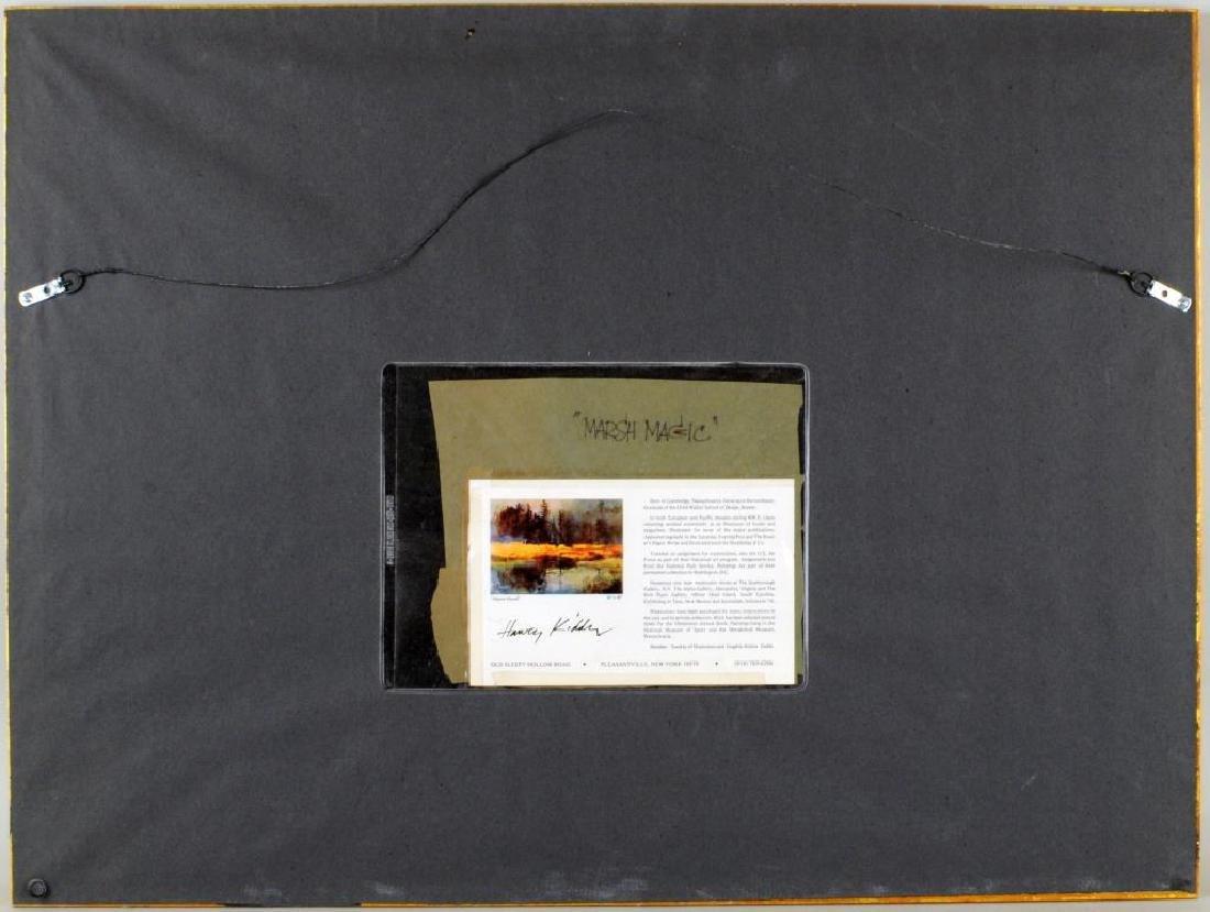 """Harvey Kidder, """"Marsh Landscape"""" W/C - 4"""