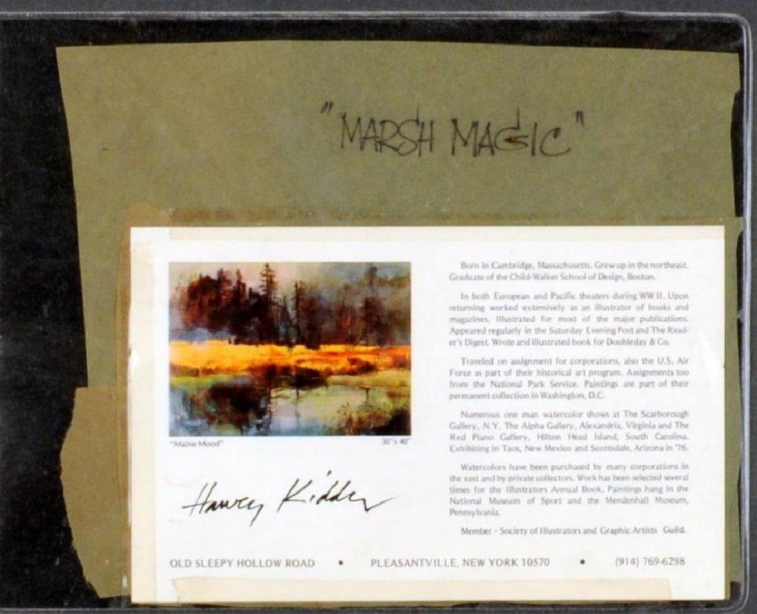 "Harvey Kidder, ""Marsh Landscape"" W/C - 5"