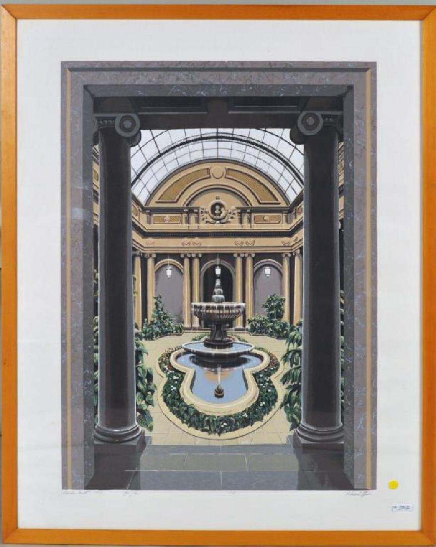 "Richard Haas, ""Garden Court"" Framed Silkscreen"
