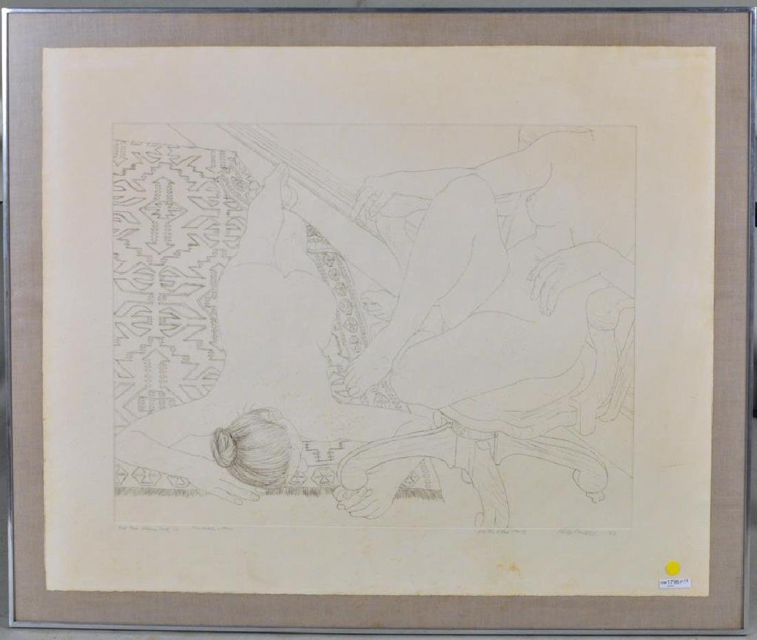 "Philip Pearstein, ""Two Models in Studies"" Etching"