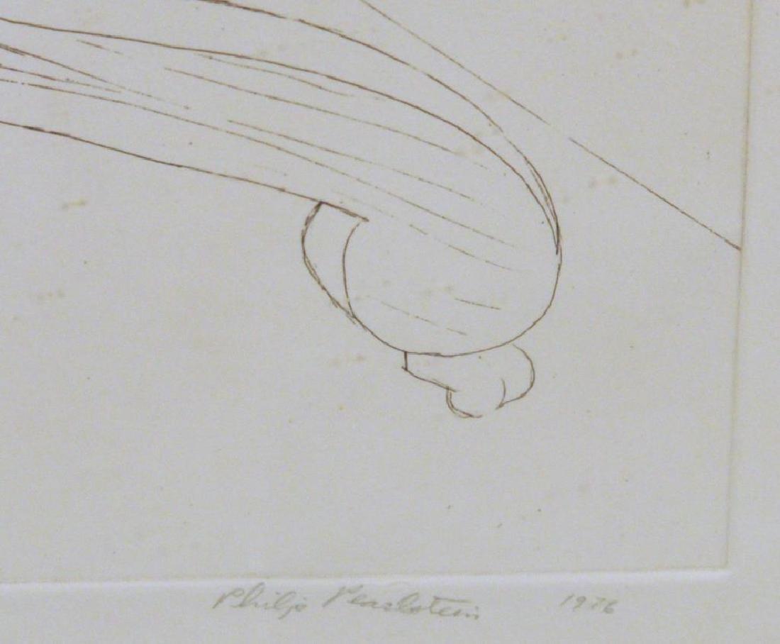 """Philip Pearstein, """"Two Models in Studies"""" Etching - 3"""