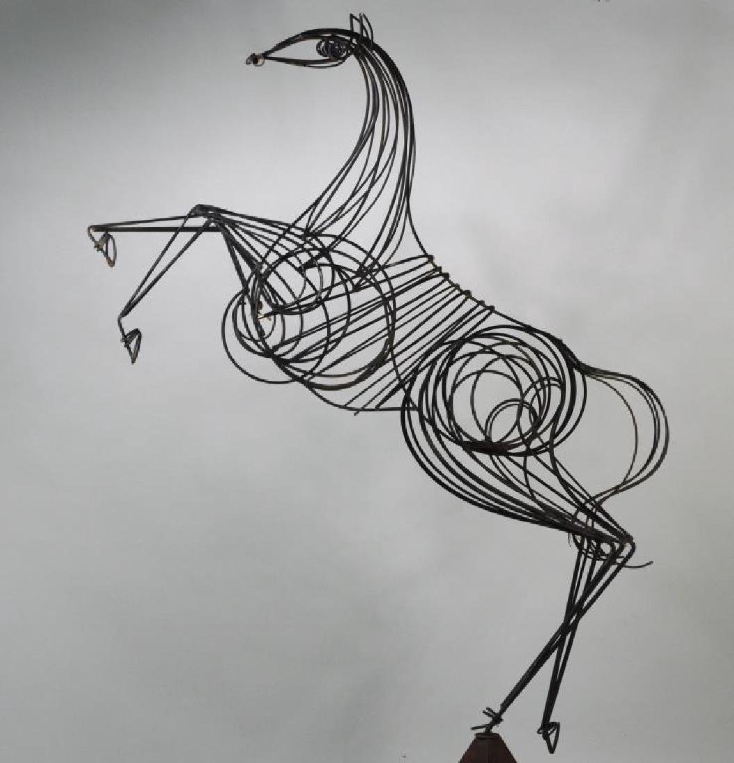 Modern Wrought Iron Sculpture of Rearing Horse - 4
