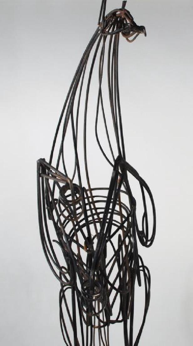 Modern Wrought Iron Sculpture of Rearing Horse - 6