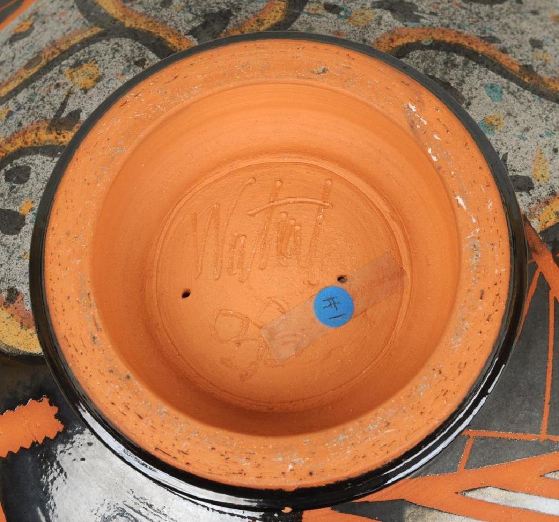 Large Modern Glazed and Slip Decorated Bowl - 3