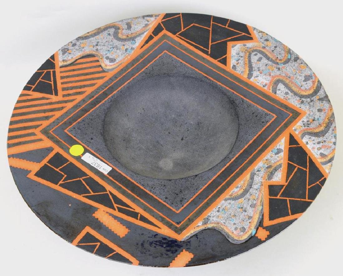 Large Modern Glazed and Slip Decorated Bowl - 4