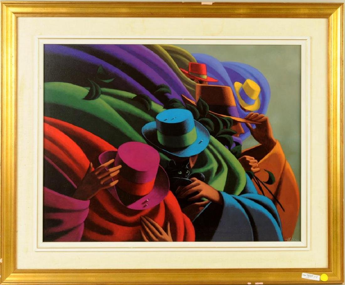 """Claude Theberge """"Hats"""" Print"""