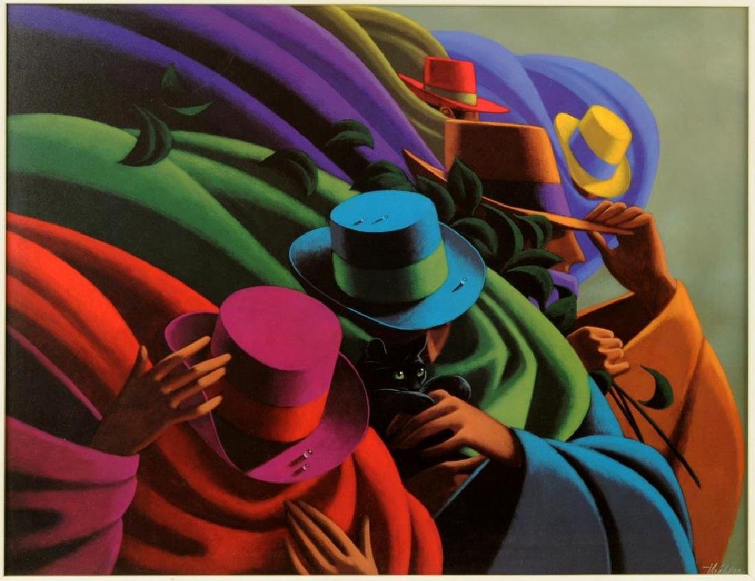 """Claude Theberge """"Hats"""" Print - 2"""