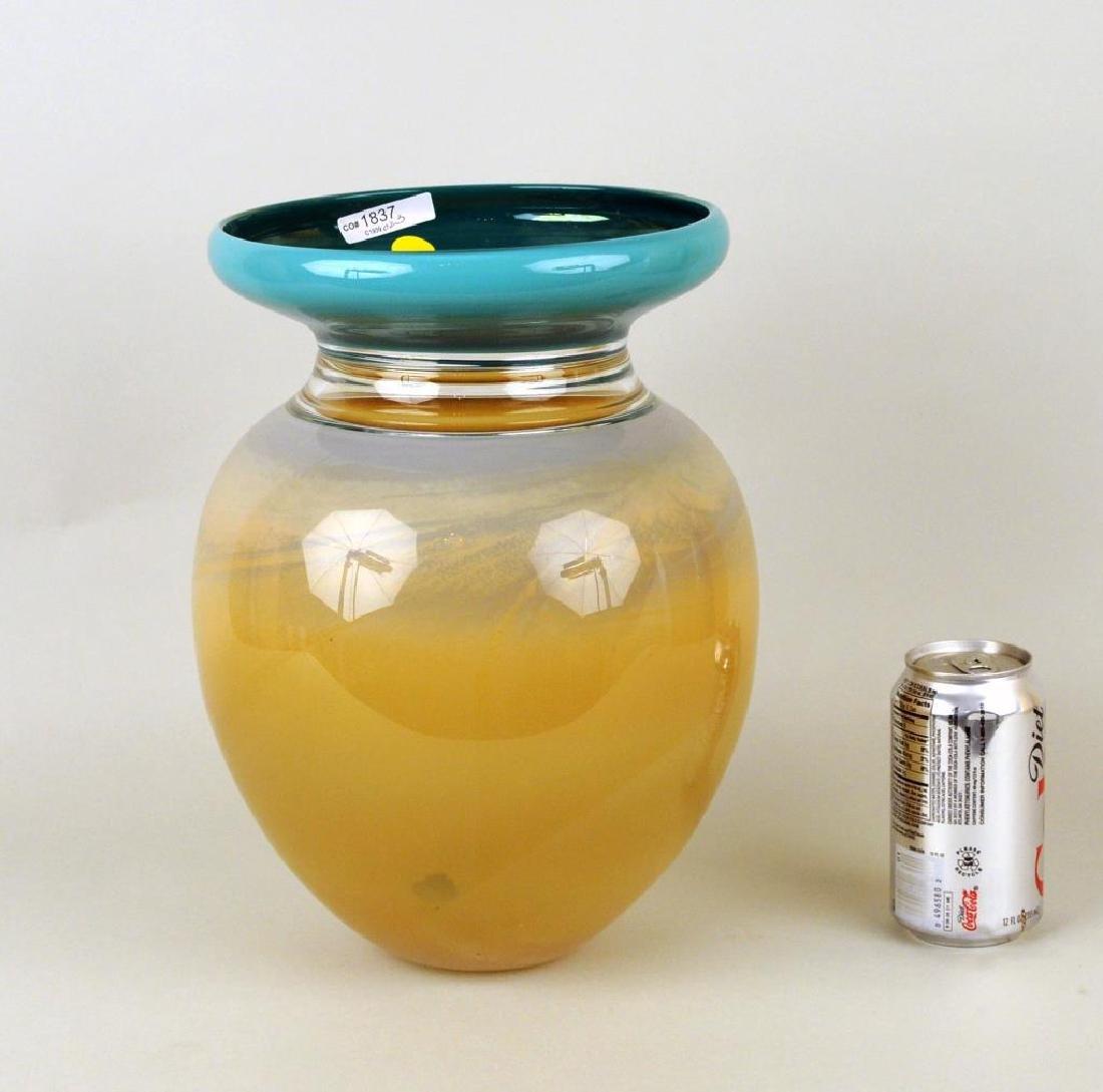 Modern Cased Glass Vase - 2