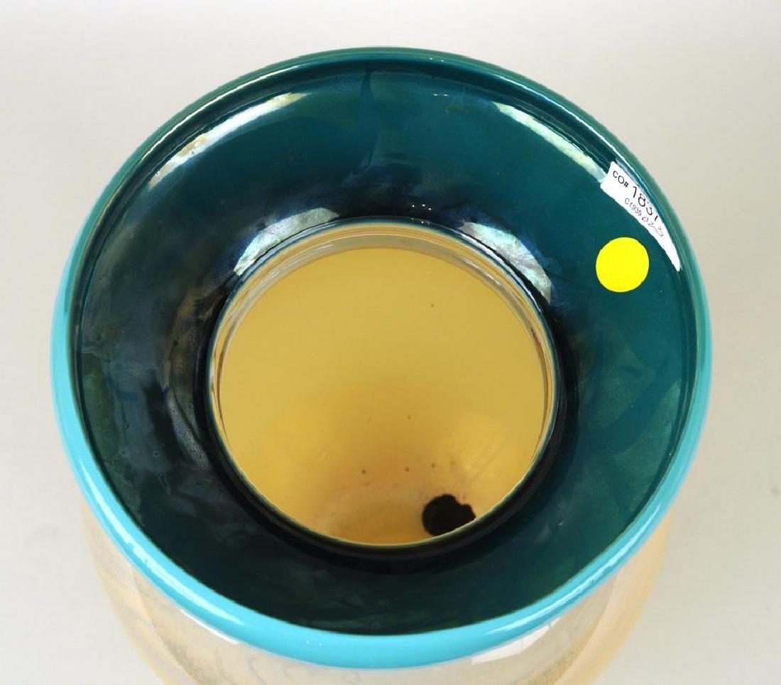 Modern Cased Glass Vase - 4