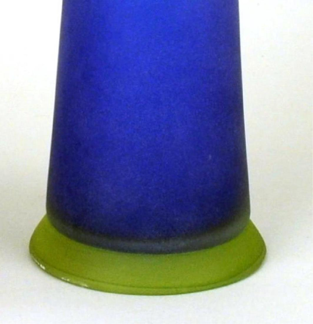 Two Modern Colored Glass Vessels - 5