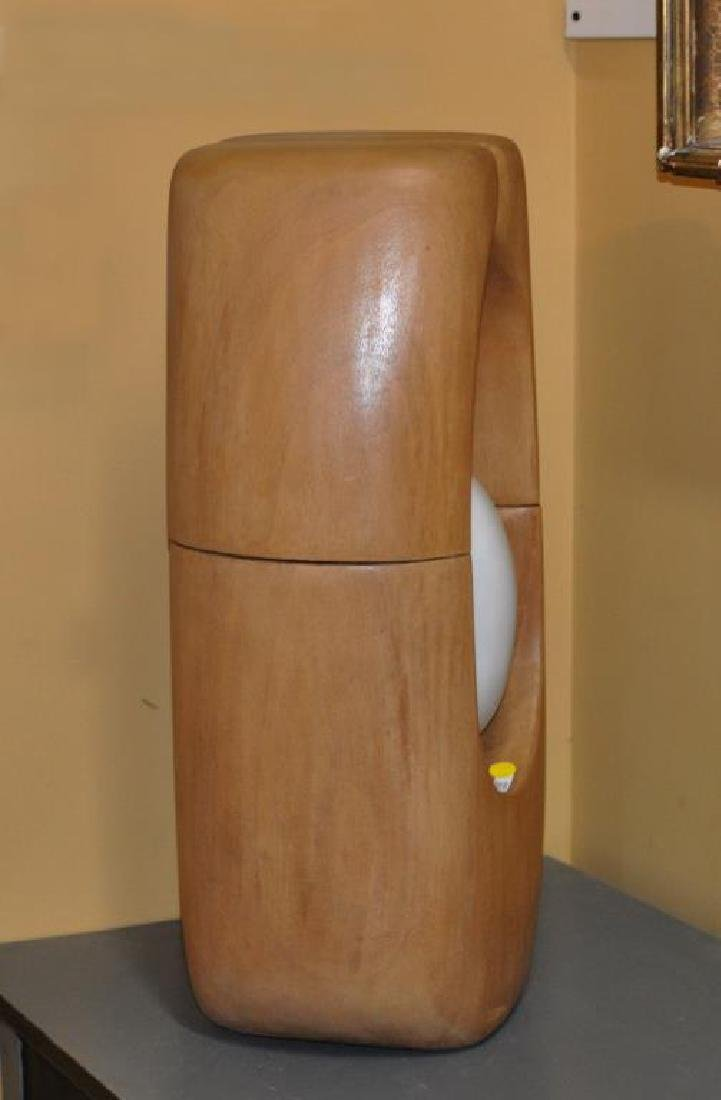 Modernist Abstract Wood  & Stone Sculpture - 3