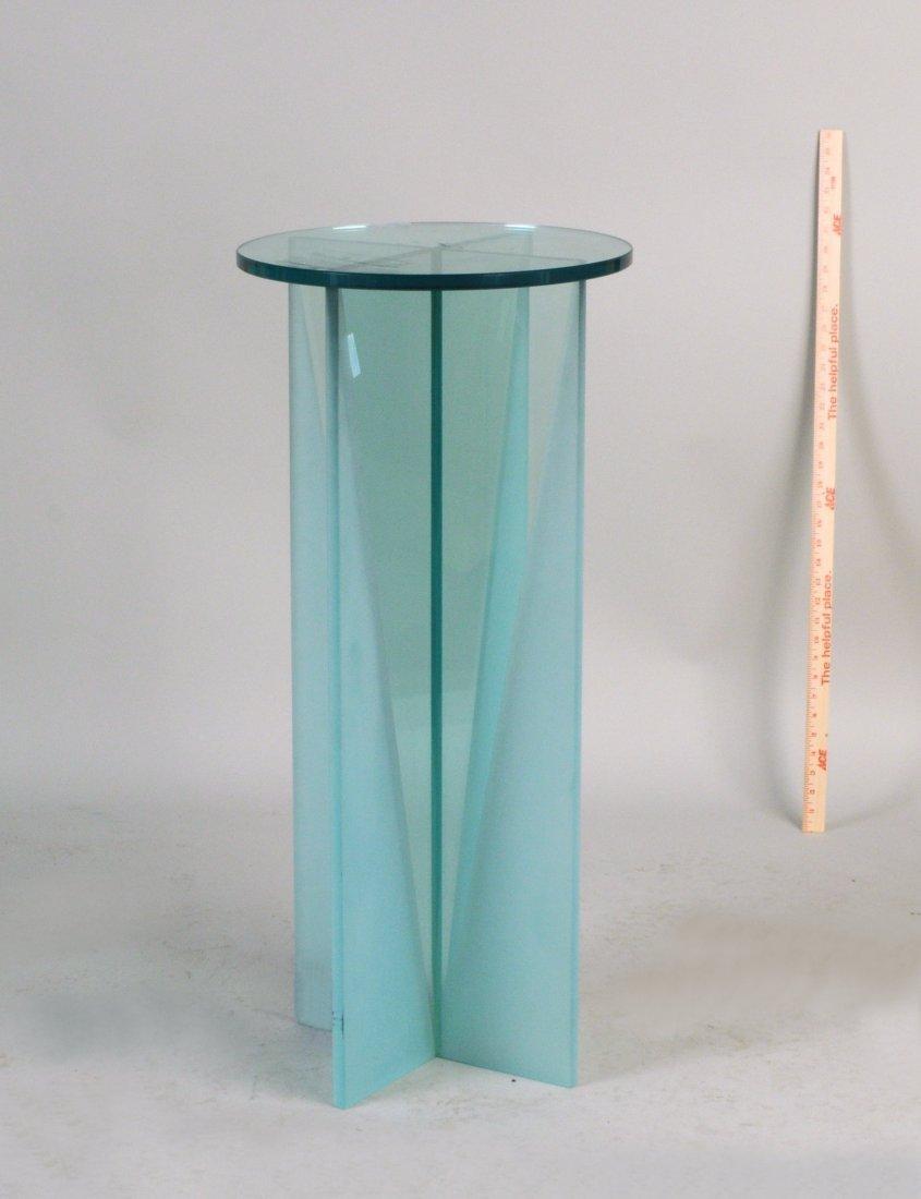 Modern Glass Stand, Circular Glass Top