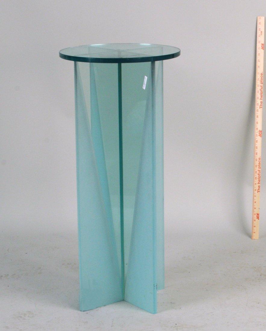 Modern Glass Stand, Circular Glass Top - 2