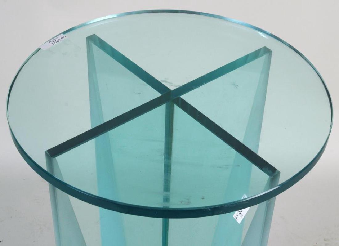 Modern Glass Stand, Circular Glass Top - 3