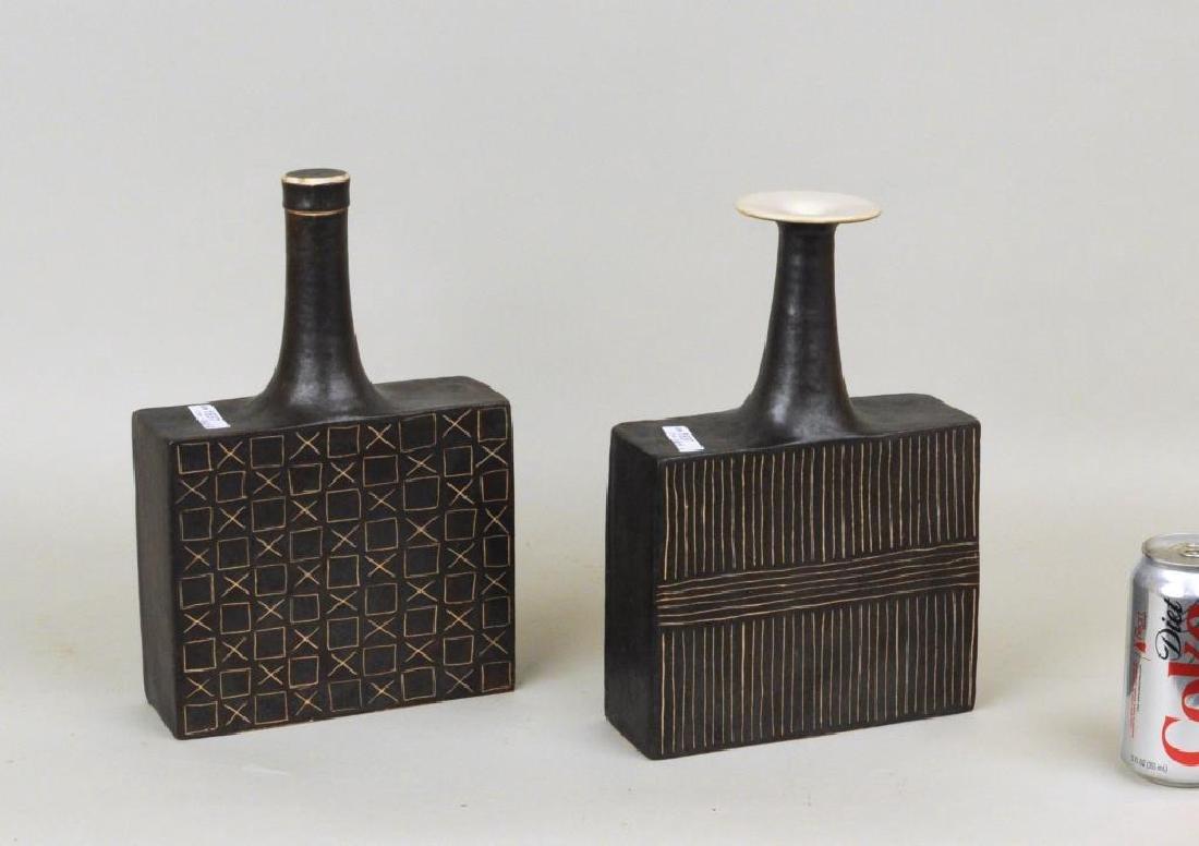 Bruno Gambone 2 Glazed Ceramic Vessels