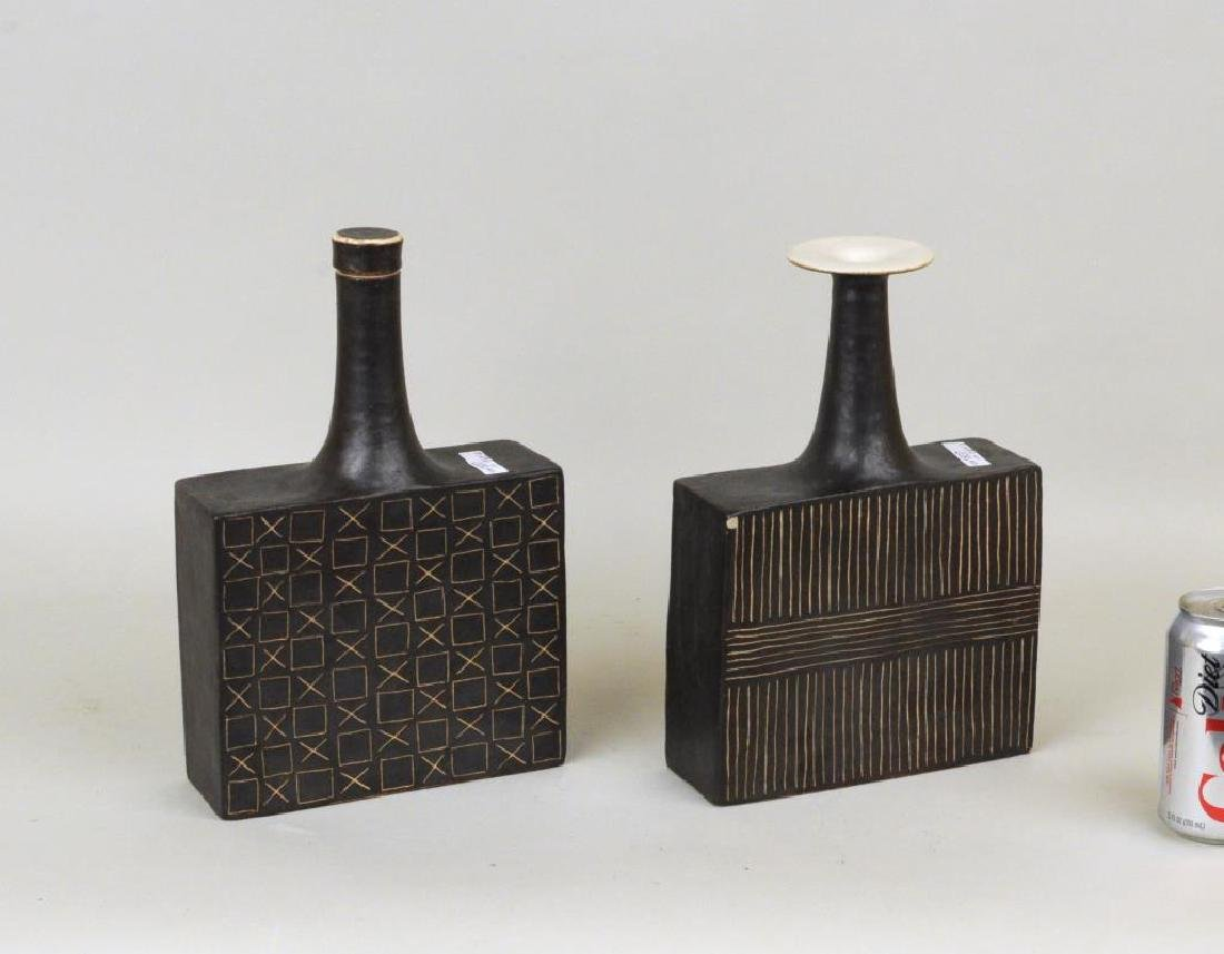 Bruno Gambone 2 Glazed Ceramic Vessels - 2