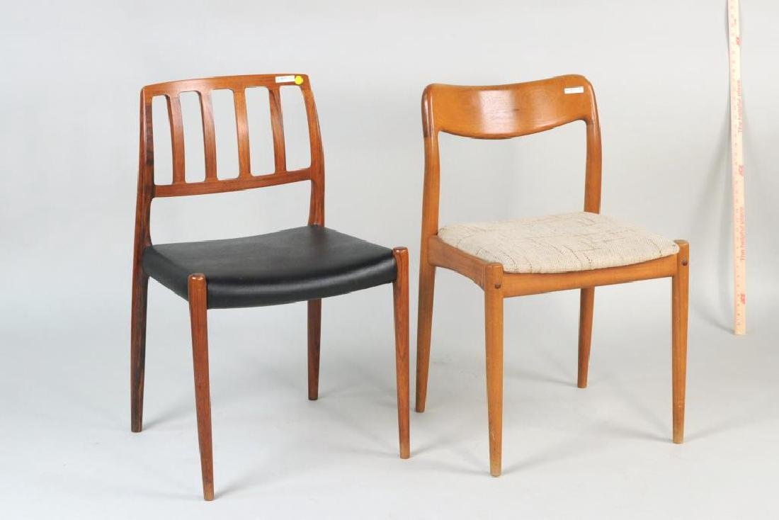Two Modernist Low Back Side Chairs