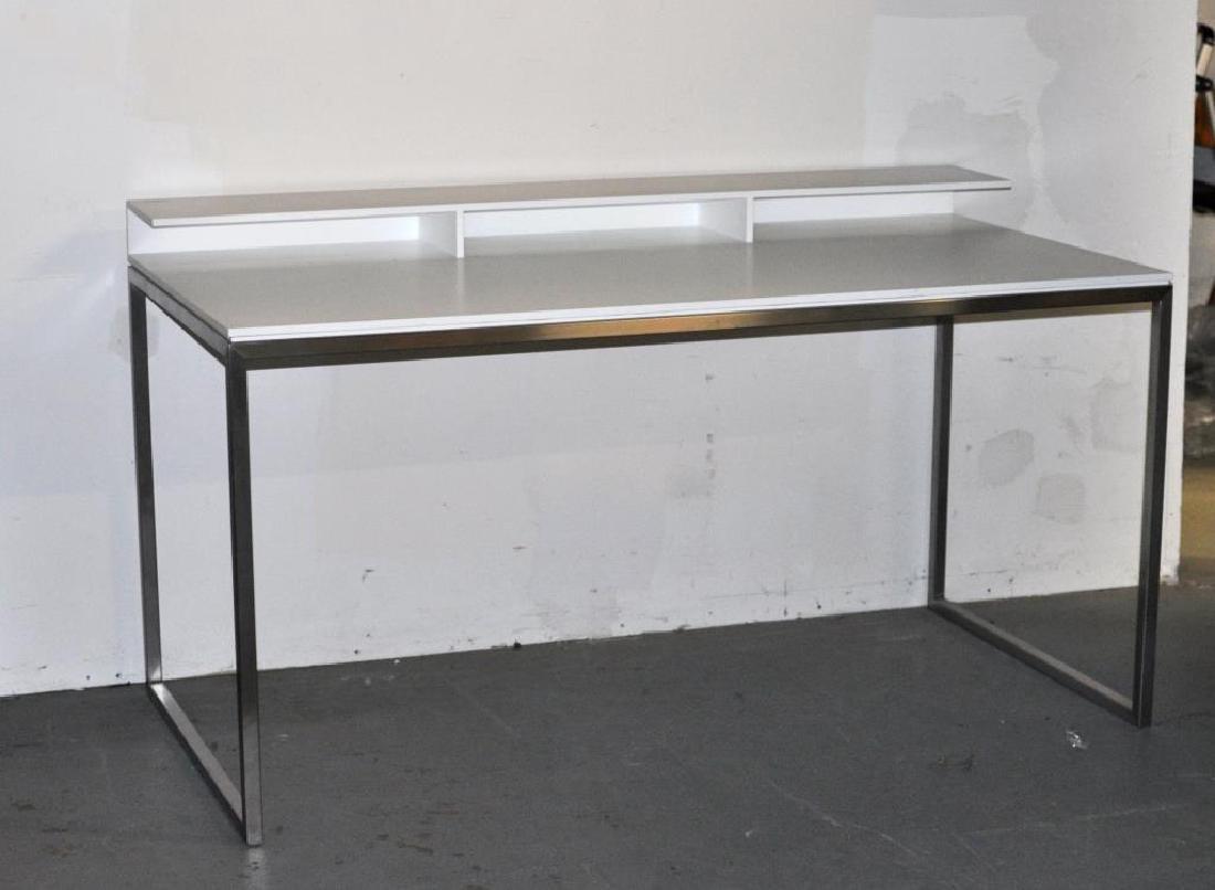 Modernist Chrome Frame Writing Desk