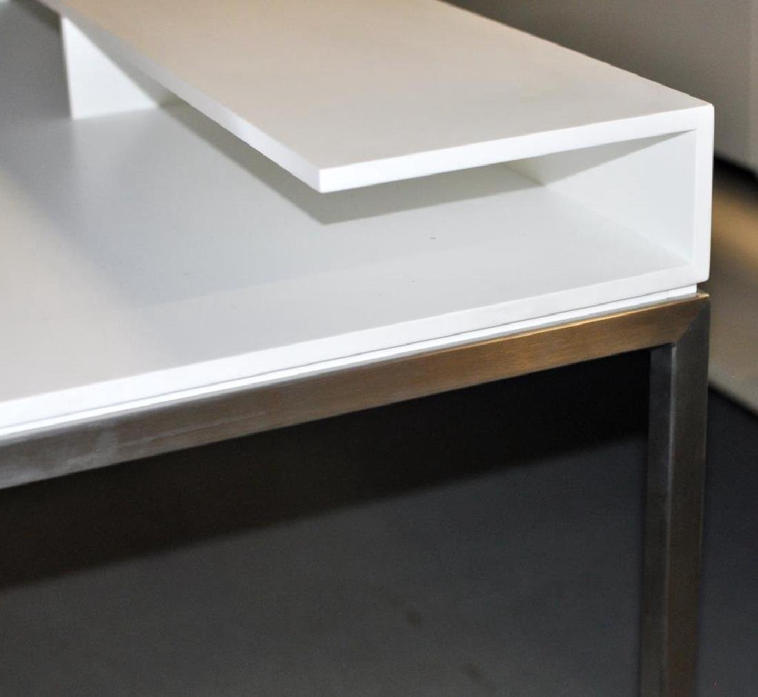 Modernist Chrome Frame Writing Desk - 2