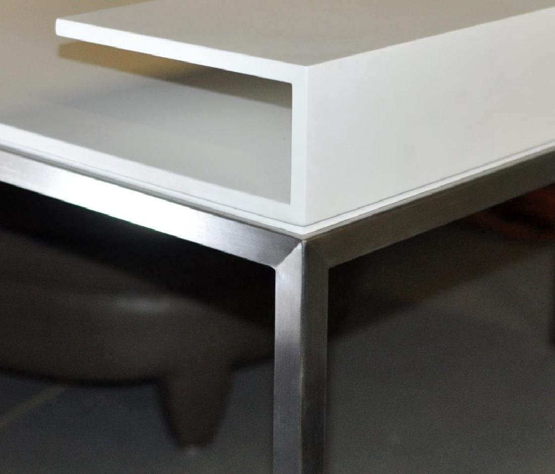 Modernist Chrome Frame Writing Desk - 3
