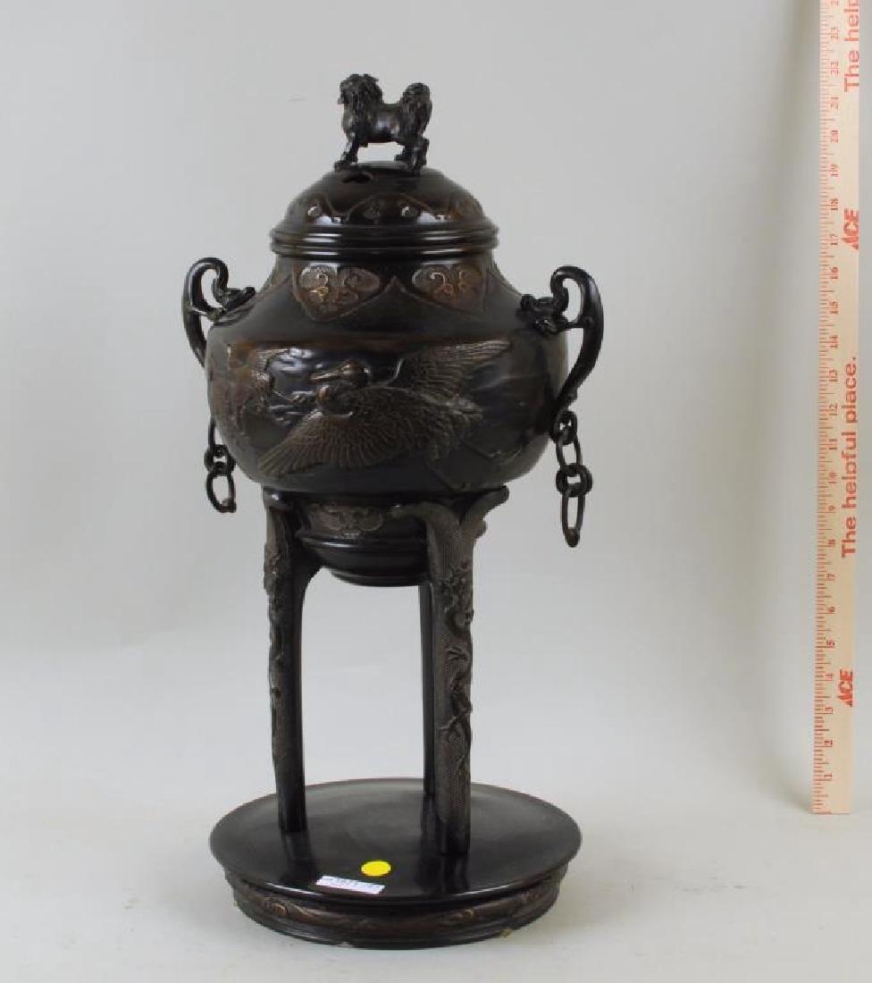 Large Asian Bronze Censer - 3