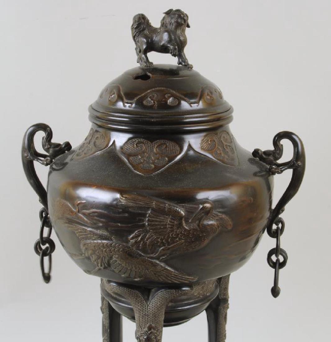 Large Asian Bronze Censer - 5