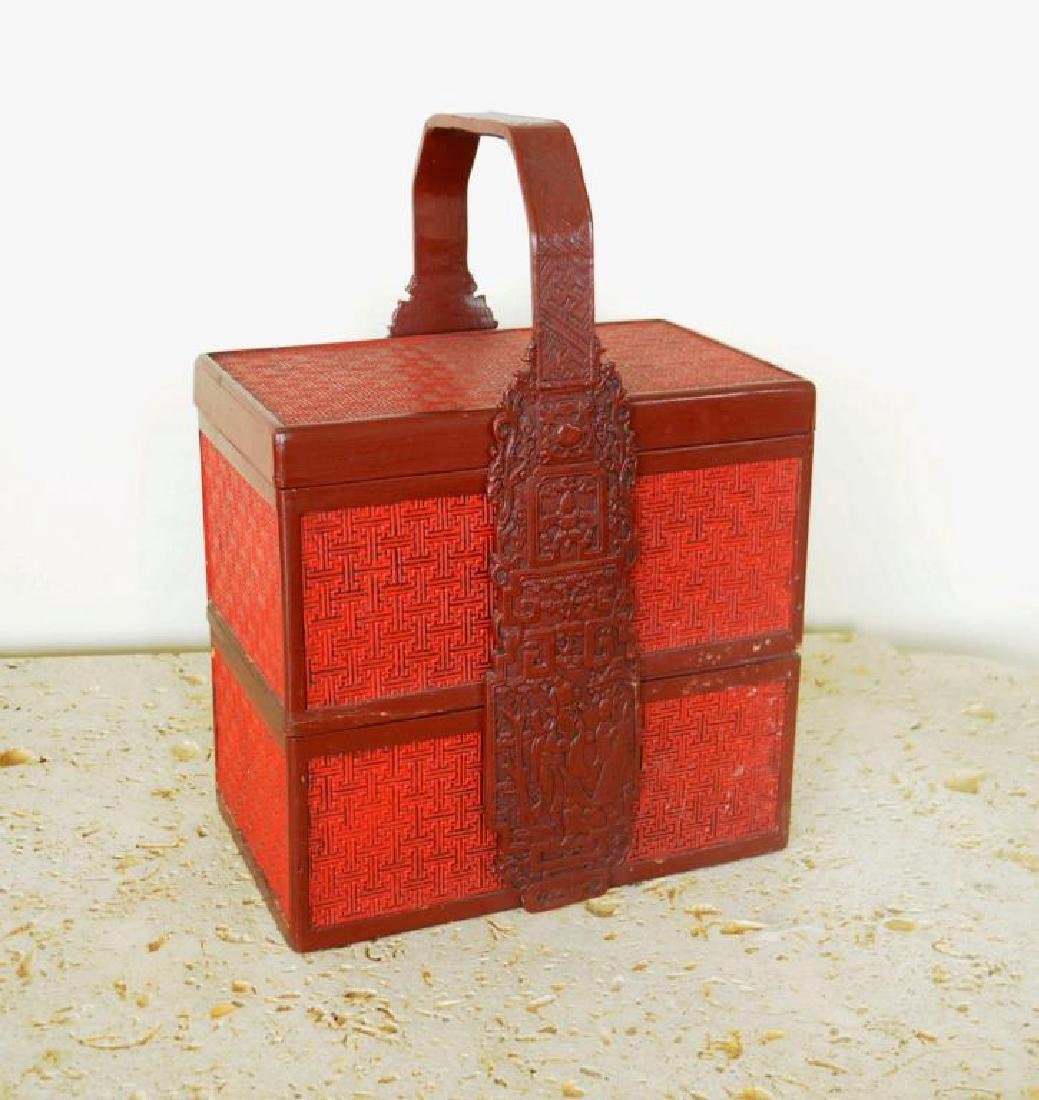Asian Lacquer Sectional Food Caddy