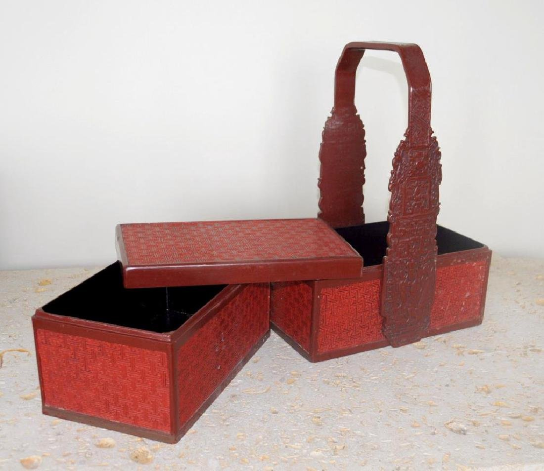 Asian Lacquer Sectional Food Caddy - 2