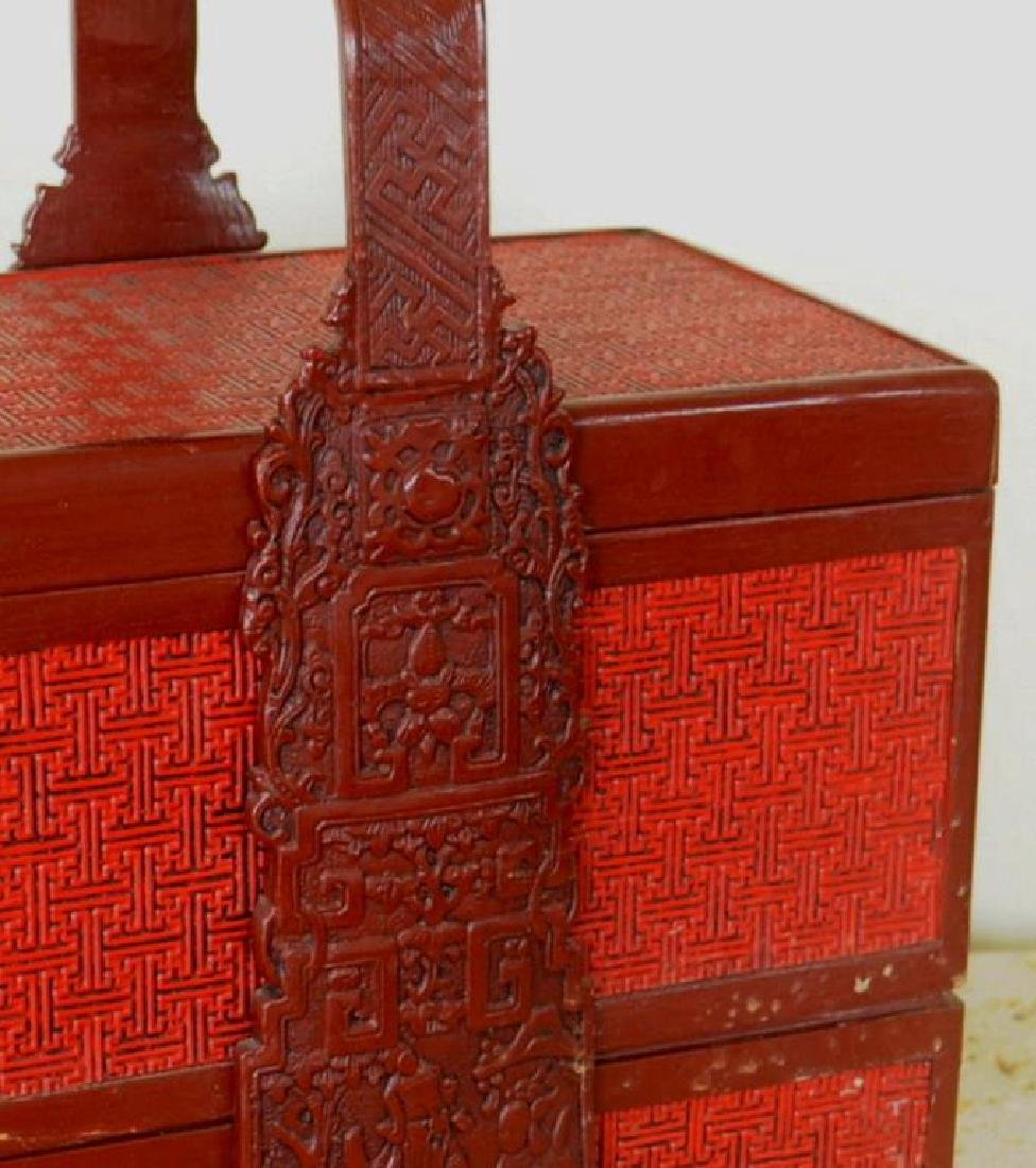 Asian Lacquer Sectional Food Caddy - 3