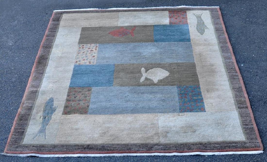 Modern Geometric/Abstract Fish Carpet