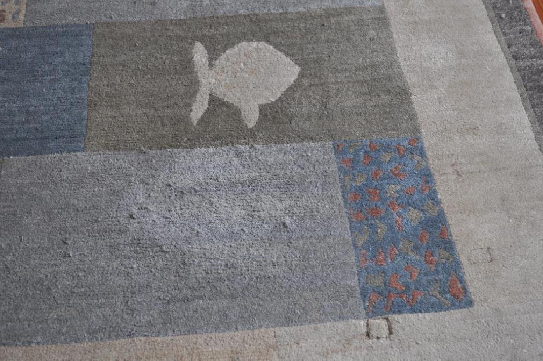 Modern Geometric/Abstract Fish Carpet - 5