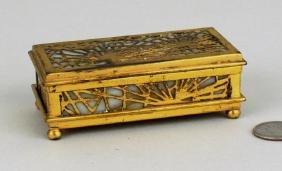 Tiffany Studios Pine Needle Bronze Box