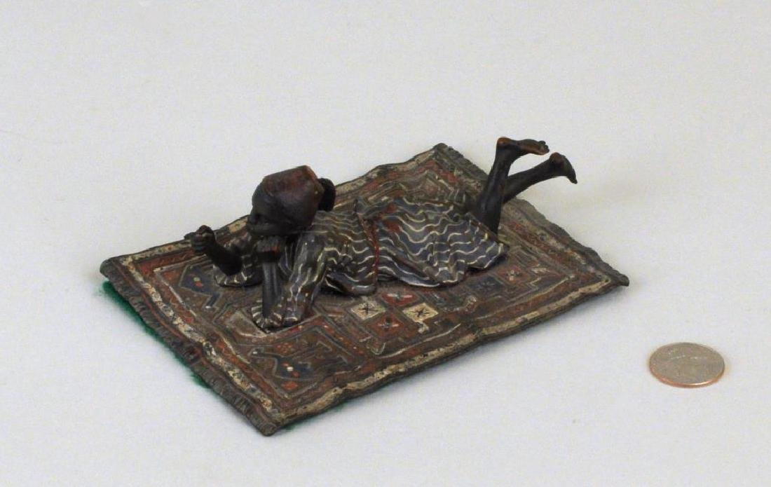 "Franz Bergman ""Boy On A Persian Carpet"" Bronze"