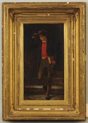 "Henry Bacon ""portrait Of A Gentleman"" O/p"