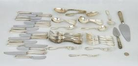 Partial Sterling & Coin Silver Flatware Service