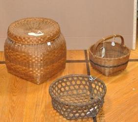 Three Splint Baskets