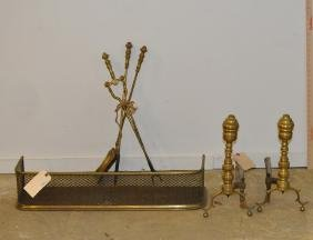 Group Brass Fireplace Accessories
