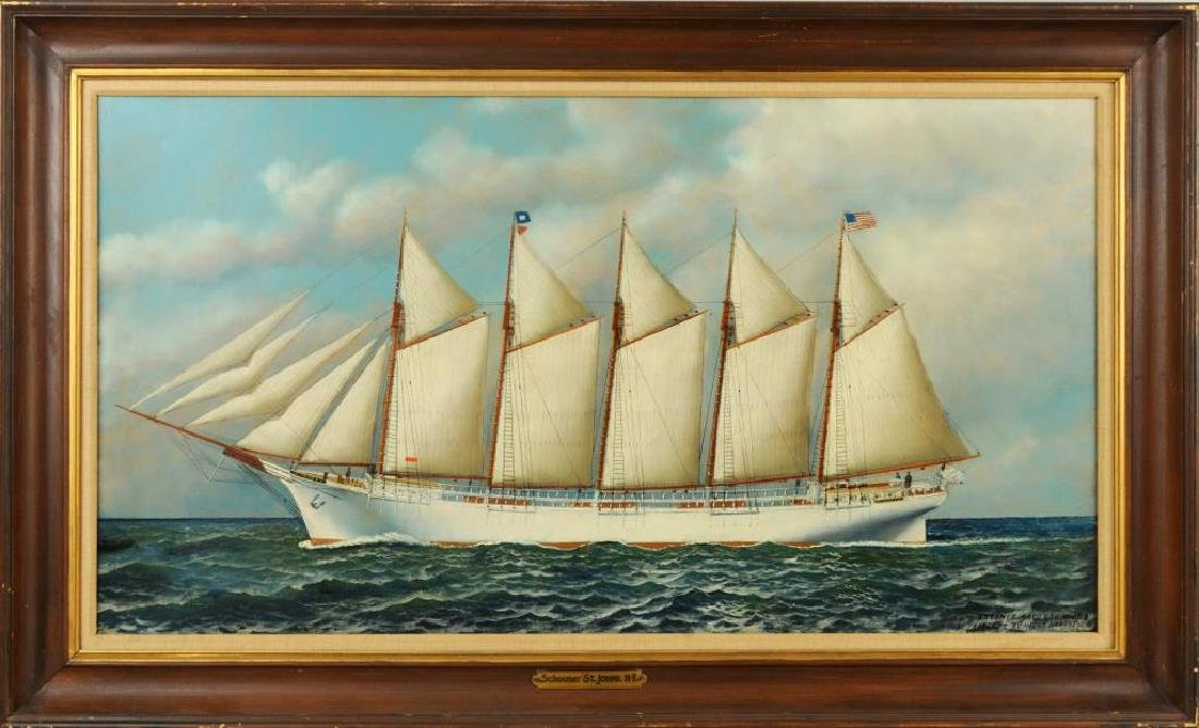 "Antonio Jacobsen, ""The Schooner St. Johns"" O/B"