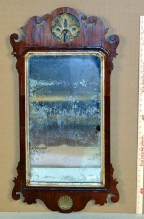 Period Queen Anne Mahogany Mirror