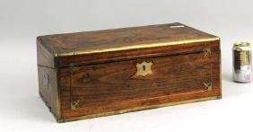 Regency Brass Mounted/Inlaid Mahogany Writing Desk