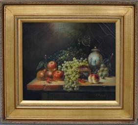 """K. Bernard """"Still Life"""" Oil On Canvas"""