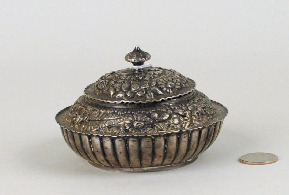 Tiffany & Co. Sterling Silver Repousse Covered Jar
