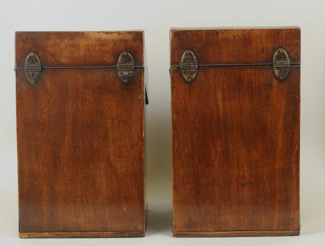 Pair George III Inlaid Mahogany Knife Boxes - 2