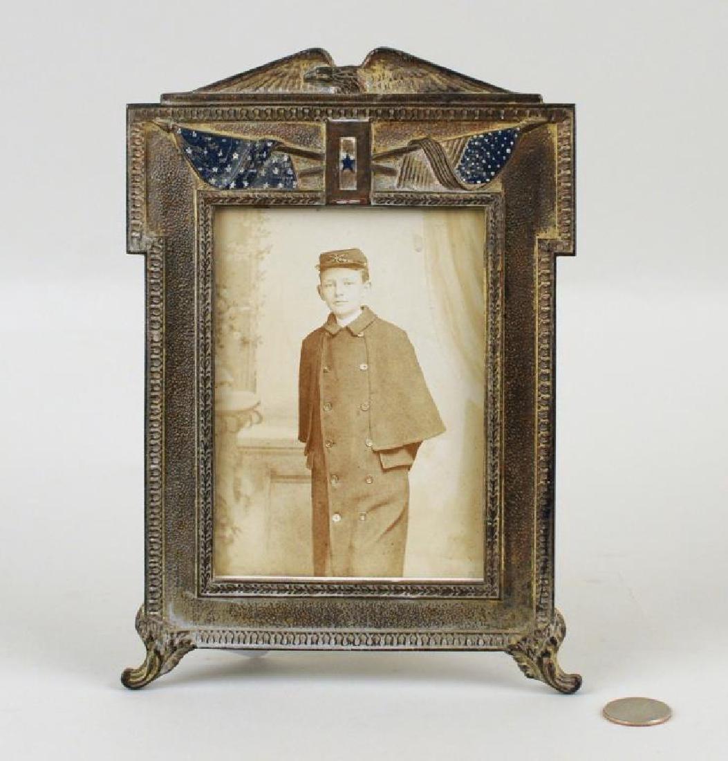 Civil War Patriotic Picture Frame & CDV