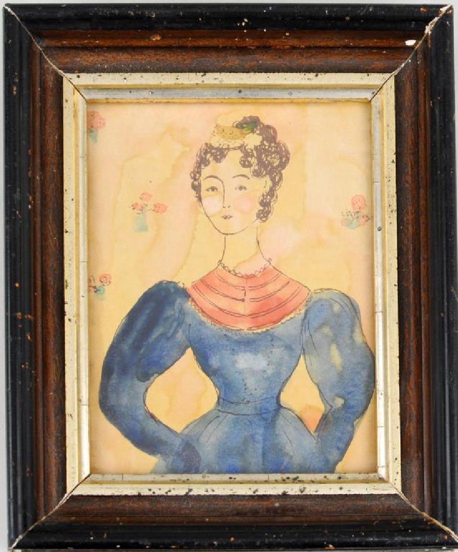 Folk Art Portrait Miniature