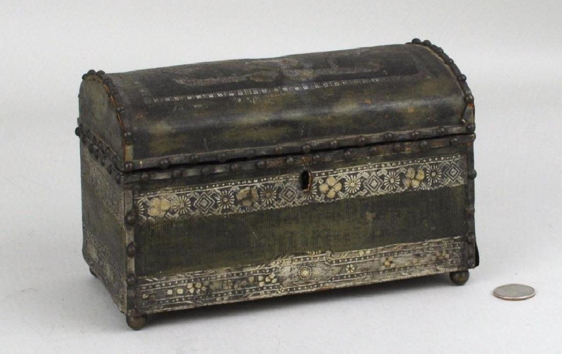 Early Small Dome Top Casket