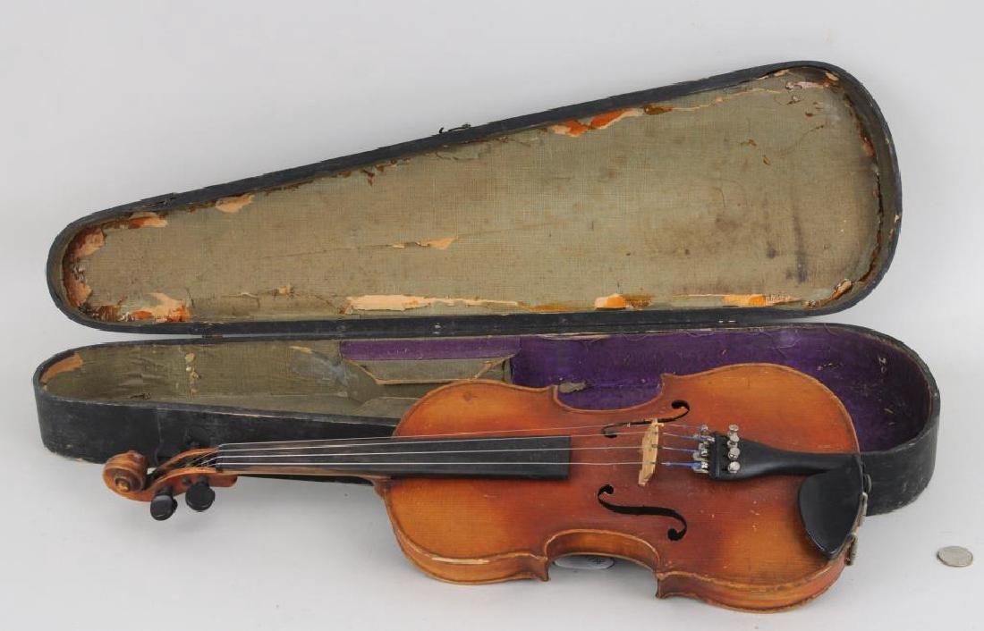 Vintage Cased Youth Size Violin