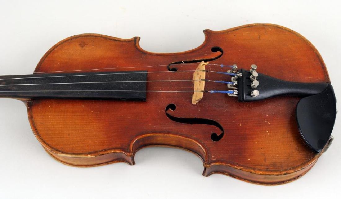 Vintage Cased Youth Size Violin - 5