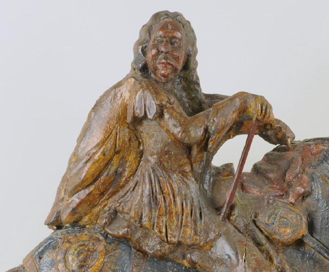 French Carved Wood & Polychrome Figure, Louis XIV - 5